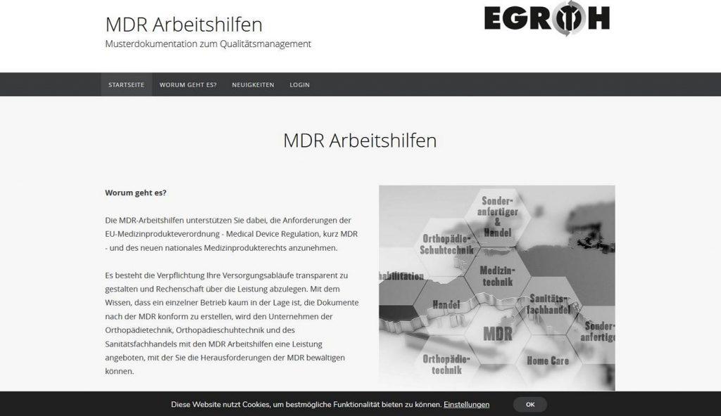 MDR Arbeitshilfen Abbildung Europa und Waben mit verschiedenen Branchen
